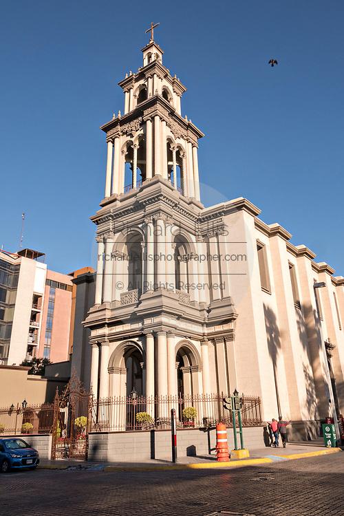 The Iglesia Sagrado Corazon de Jesus or Sacred Heart of Jesus Church in the Barrio Antiguo neighborhood of Monterrey, Nuevo Leon, Mexico. The church was built between between 1873 and 1904.