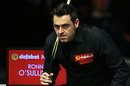 Ronnie O'Sullivan (Eng) looks on.  Ronnie O'Sullivan (Eng) v Joe Perry (Eng), the Masters Final at the Dafabet Masters Snooker 2017, at Alexandra Palace in London on Sunday 22nd January 2017.<br /> pic by John Patrick Fletcher, Andrew Orchard sports photography.