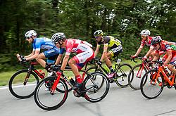 Primoz Obal (SLO) of Slovenija National Team and Jon Bozic (SLO) of KK Adria Mobil during Stage 1 of 24th Tour of Slovenia 2017 / Tour de Slovenie from Koper to Kocevje (159,4 km) cycling race on June 15, 2017 in Slovenia. Photo by Vid Ponikvar / Sportida