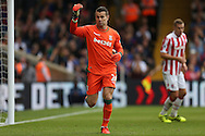 Goalkeeper Shay Given of Stoke City in action. Premier League match, Crystal Palace v Stoke city at Selhurst Park in London on Sunday 18th Sept 2016. pic by John Patrick Fletcher, Andrew Orchard sports photography.