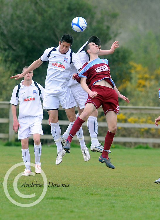 Thiago, Galway United and Alan O'Flynn Cobh Ramblers in Cappa Park in Knocknacarra, GAlway. Photo:Andrew Downes