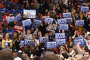 The People at Presidental Candidate Barack Obama Rally at The Izod Center at the Meadowlands in New Jersey on February 4, 2008