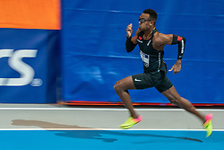 Liemarvin Bonevacia in action on the 400 meters during limit matches to be held simultaneously with the Dutch Athletics Championships on 13 February 2021 in Apeldoorn