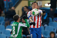 17.01.2013 SPAIN - Copa del Rey Matchday 1/2th  match played between Atletico de Madrid vs Real Betis Balompie (2-0) at Vicente Calderon stadium. The picture show  Cristian Gabriel Rodriguez (Uruguay midfielder of At. Madrid)