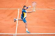 Paris, France. Roland Garros. June 2nd 2013.<br /> French player Jo-Wilfried TSONGA against Viktor TROICKI