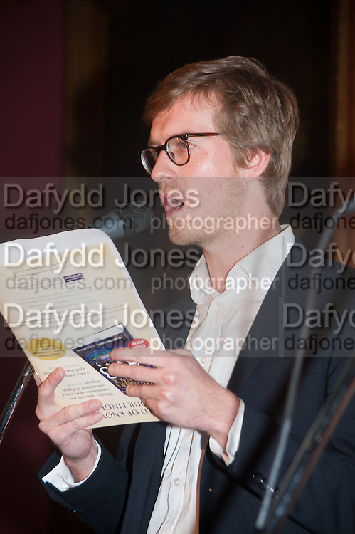 ARTHUR HOUSE, The Literary Review Bad Sex fiction award 2012. The In and Out Club, 4 St. james's Sq. London. 4 December 2012