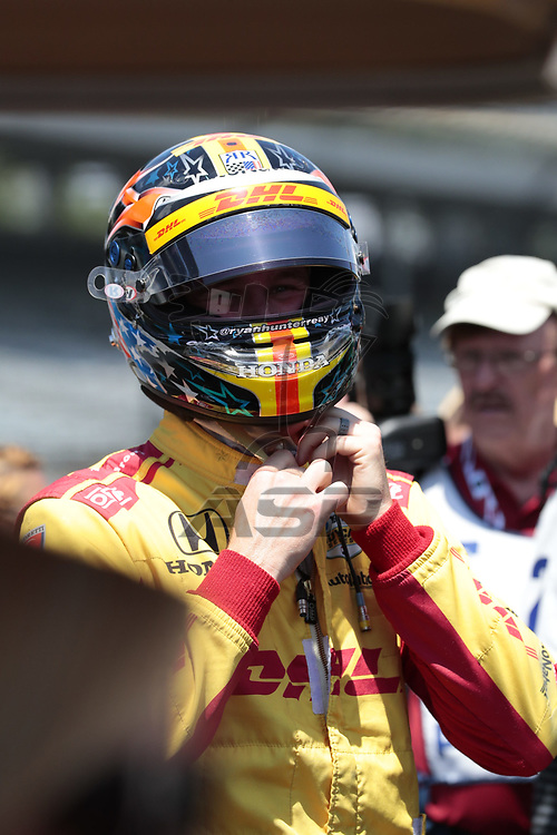 RYAN HUNTER-REAY (28) of the United States prepares to qualify for the Indianapolis 500 at Indianapolis Motor Speedway in Indianapolis, Indiana.