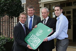 """PRESS RELEASE <br />Jason Smyth and Minister Leo Varadkar launch Vision Sports Ireland.  <br /> Thursday, 19 September, Dublin.<br /> Four time Paralympic gold medallist and World Champion, Jason Smyth, and Minister for Transport, Tourism & Sport, Leo Varadkar, today launched Vision Sports Ireland at a reception in central Dublin. Formerly Irish Blind Sports, the organisation has been renamed and rebranded to mark its 25th anniversary and to reflect the needs of its members. <br /><br />Pictured at the  launched Vision Sports Ireland at a reception in central Dublin. Formerly Irish Blind Sports, the organisation has been renamed and rebranded to mark its 25th anniversary and to reflect the needs of its members.<br /> Were life to right.<br />Senator Eamonn Coghlan.<br />Martin Conway, Clare Senator and Seanad Spokesperson on Disability, <br />Robert Dobbyn, Chairperson Vision Sports Ireland.<br />Jason Smyth, Paralympic Double Gold Sprinter.<br /> Speaking at the opening Minister Varadkar said: """"This is the start of a new era for vision impaired sports people in Ireland and I congratulate Vision Sports Ireland for reaching out to the community. Sport can, and should, be open to everyone, and I know that this organisation is striving to provide access to activities right across the country. The Government continues to support this area and awarded €36,000 to Vision Sports Ireland through the Sports Council this year, in addition to support for elite athletes through Paralympics Ireland.""""<br />Vision Sports Ireland assists vision impaired people in Ireland, of all ages, to access sports at all levels, from leisure to elite, in their own communities where possible. The Organisation offers a range of sports, including tandem cycling, football, swimming, golf and athletics and hosts, both,  national and international competitions. <br />Senator Eamonn Coghlan, a valued supporter of Vision Sports Ireland, former three time Olympian and World athletics 5000m champion,  pre"""