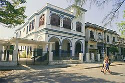 Exterior of Cuban school building,