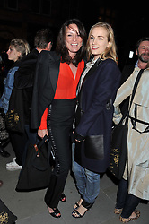 Left to right, TRISH SIMONON and POLLY MORGAN at a reception hosted by Ralph Lauren Double RL and Dexter Fletcher before a private screening of Wild Bill benefitting FilmAid held at RRL 16 Mount Street, London on 26th March 2012.