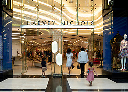 Harvey Nichols store in the Prestige mall inside The Avenues shopping mall in Kuwait City, Kuwait.