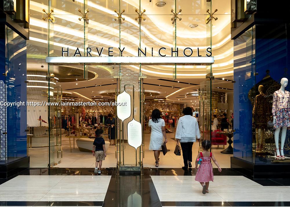 Harvey Nichols store in the Prestige mall inside The Avenues shopping mall in Kuwait City, Kuwait.