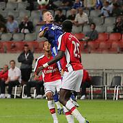 NLD/Amsterdam/20080808 - LG Tournament 2008 Amsterdam, Ajax v Arsenal, kopbal van Rasmus Lindgren