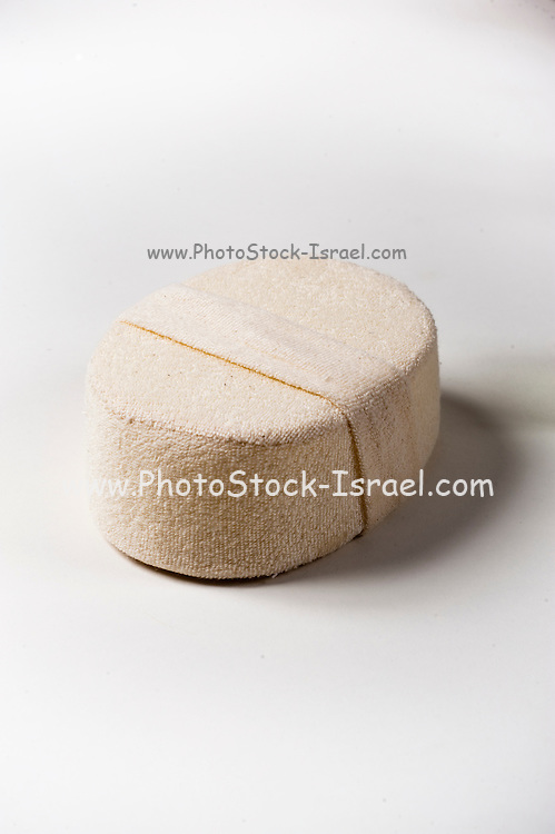 Cutout of ruff sponge used as a massage aiding tool