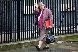 © Licensed to London News Pictures. 17/12/2019. London, UK. Secretary of State for Work and Pensions Thérèse Coffey arrives for the first meeting of the cabinet after the Conservatives won a majority in the 2019 General Election. Photo credit: Rob Pinney/LNP