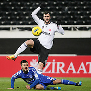 Besiktas's Hugo Almedia (B) during their Turkey Cup matchday 3 soccer match Besiktas between Gaziantepspor BSB at the Inonu stadium in Istanbul Turkey on Wednesday 11 January 2012. Photo by TURKPIX