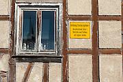 renovierungsbedürftiges Fachwerkhaus, Fürth im Odenwald, Odenwald, Hessen, Deutschland