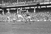 Cork player catches ball in the air after dropping his hurl during the All Ireland Senior Hurling Final, Cork v Kilkenny in Croke Park on the 3rd September 1972. Kilkenny 3-24, Cork 5-11.