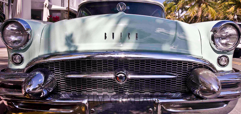 Classic Buick 1955 Special Convertible automobile in Ocean Drive, South Beach, Miami, Florida
