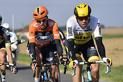 October 9, 2016 - Tours, FRANCE - TOURS, FRANCE - OCTOBER 9 : WYNANTS Maarten (BEL) Rider of TEAM LOTTO NL - JUMBO and VAN GOETHEM Brian (NED) Rider of ROOMPOT - ORANJE PELOTON in action during  the 110th edition of the Paris-Tours cycling race with start in Dreux and finish in Tours on October 09, 2016 in Tours, France, 9/10/2016 (Credit Image: © Panoramic via ZUMA Press)