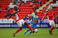 Charlton Athletic defender Mouhamadou-Naby Sarr (23) in action during the EFL Sky Bet League 1 match between Charlton Athletic and Shrewsbury Town at The Valley, London, England on 11 August 2018.