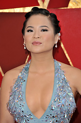Kelly Marie Tran  walking on the red carpet during the 90th Academy Awards ceremony, presented by the Academy of Motion Picture Arts and Sciences, held at the Dolby Theatre in Hollywood, California on March 4, 2018. (Photo by Sthanlee Mirador/Sipa USA)