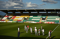 18 July 2019; SK Brann players walk the pitch ahead of the UEFA Europa League First Qualifying Round 2nd Leg match between Shamrock Rovers and SK Brann at Tallaght Stadium in Dublin. Photo by Eóin Noonan/Sportsfile