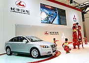 China's Changfeng automaker displays its Acumen car during Shanghai Motor Show, in Shanghai, China, on April 20, 2009. Shanghai auto show opened Monday for the press and will be open April 24-28 for the public. China is the only major auto market still growing despite the global economic slowdown. U.S. and global auto makers see China as the place where they can find the sales they desperately lack in their home market. Chinese automakers see the opportunity to assess themselves as major players in the world market. Photo by Lucas Schifres/Pictobank