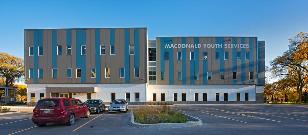 Macdonald Youth Services. Raymond SC Wan Architects, Winnipeg, Manitoba, Canada