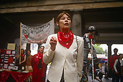 Actor Glenda jackson adresses a Womens Environmental Network WEN rally in Covent Garden in the late-eighties, London, England. Jackson went on to serve as Member of Parliament<br /> for Hampstead and Highgate 1992–2010.