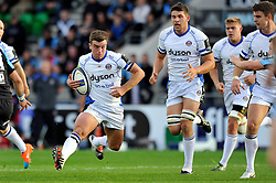 George Ford of Bath Rugby in possession - Photo mandatory by-line: Patrick Khachfe/JMP - Mobile: 07966 386802 18/10/2014 - SPORT - RUGBY UNION - Glasgow - Scotstoun Stadium - Glasgow Warriors v Bath Rugby - European Rugby Champions Cup