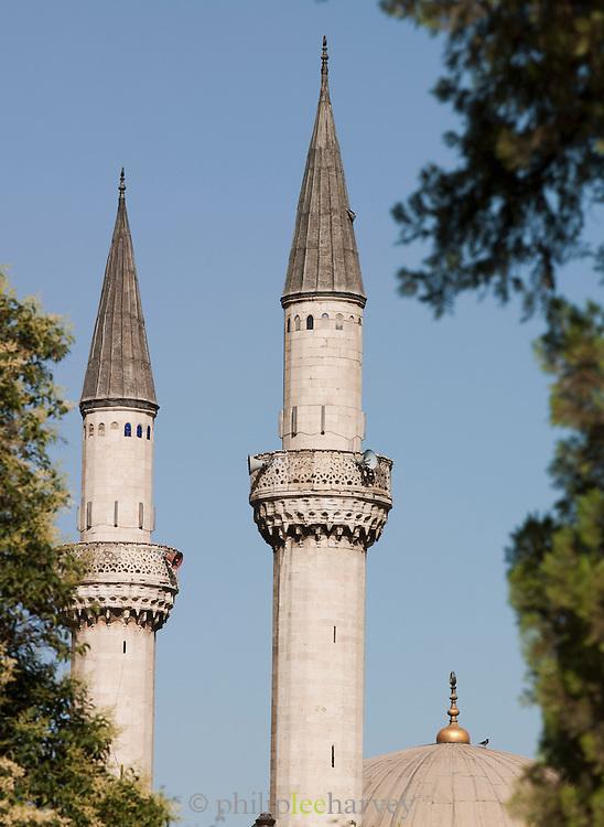 Minarets of the Tekkiye Mosque in Damascus, Syria