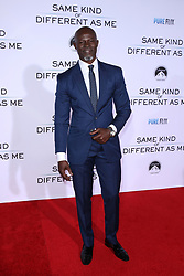 "Djimon Hounsou at the Paramount Pictures And Pure Flix Entertainment's ""Same Kind Of Different As Me"" Premiere held at the Westwood Village Theatre on October 12, 2017 in Westwood, California, USA (Photo by Art Garcia/Sipa USA)"