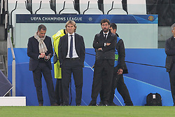 November 7, 2018 - Turin, Piedmont, Italy - From left: Fabio Paratici, Pavel Nedved and Andrea Agnelli before the UEFA Champions League match between Juventus FC and Manchester United FC,  at Allianz Stadium on November 07, 2018 in Turin, Italy..Juventus FC lost 1-2 against Manchester United. (Credit Image: © Massimiliano Ferraro/NurPhoto via ZUMA Press)