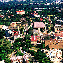 Aerial photograph of the University of Kansas Lawrence Campus