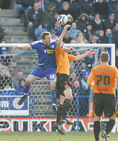 Photo: Steve Bond/Richard Lane Photography. <br />Leicester City v Hull City. Coca Cola Championship. 21/03/2008. Steve Howard (L) causes problems in the Hull penalty area