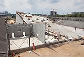 Construction of Godsbanen, The Freight Yard Project, Aarhus, Denmark. Architect: 3XN