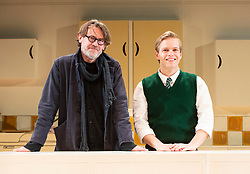 Nigel Slater's Toast <br /> Adapted by Henry Filloux-Bennett <br /> At The Other Place, London, Great Britain <br /> Press photo call <br /> <br /> Opens on 4th April 2019 <br /> <br /> Nigel Slater (chef and food writer) poses with Giles Cooper who plays Nigel Slater after the photo call finished. <br /> <br /> Photograph by Elliott Franks