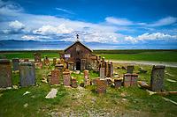 Armenie, region de Gegharkunik, lac Sevan, cimetière de Noradouz // Armenia, Gegharkunik province, Sevan Lake, Noradouz cimetery