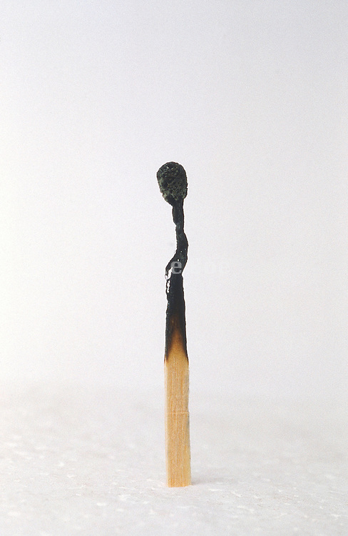 A burned match