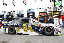 September 22, 2017 - Loudon, New Hampshire, United States of America - September 22, 2017 - Loudon, New Hampshire, USA: Chase Elliott (24) makes heavy contact with the wall during practice for the ISM Connect 300 at New Hampshire Motor Speedway in Loudon, New Hampshire. (Credit Image: © Justin R. Noe Asp Inc/ASP via ZUMA Wire)