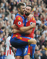 Football - 2016 / 2017 Premier League - Crystal Palace vs Stoke City<br /> <br /> James McArthur of Crystal Palace celebrates scoring goal no. 4 with Damien Delaney at Selhurst Park<br /> <br /> <br /> Credit : Colorsport / Andrew Cowie