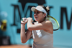 May 9, 2019 - Madrid, Madrid, Spain - Belinda Bencic seen in action during the Mutua Madrid Open Masters match on day 7 at Caja Magica in Madrid. (Credit Image: © Legan P. Mace/SOPA Images via ZUMA Wire)