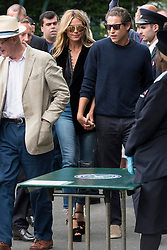 © Licensed to London News Pictures. 08/07/2016. HEIDI KLUM and VITO SCHNABEL arrive for the twelfth day of the WIMBLEDON Lawn Tennis Championships. London, UK. Photo credit: Ray Tang/LNP
