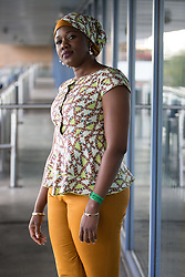 © Licensed to London News Pictures . 25/09/2015 . Doncaster , UK . Guest speaker RASHIDA SAANI NASAMU , Ghanaian broadcaster and businesswoman , at the 2015 UKIP Conference at Doncaster Racecourse . Photo credit : Joel Goodman/LNP