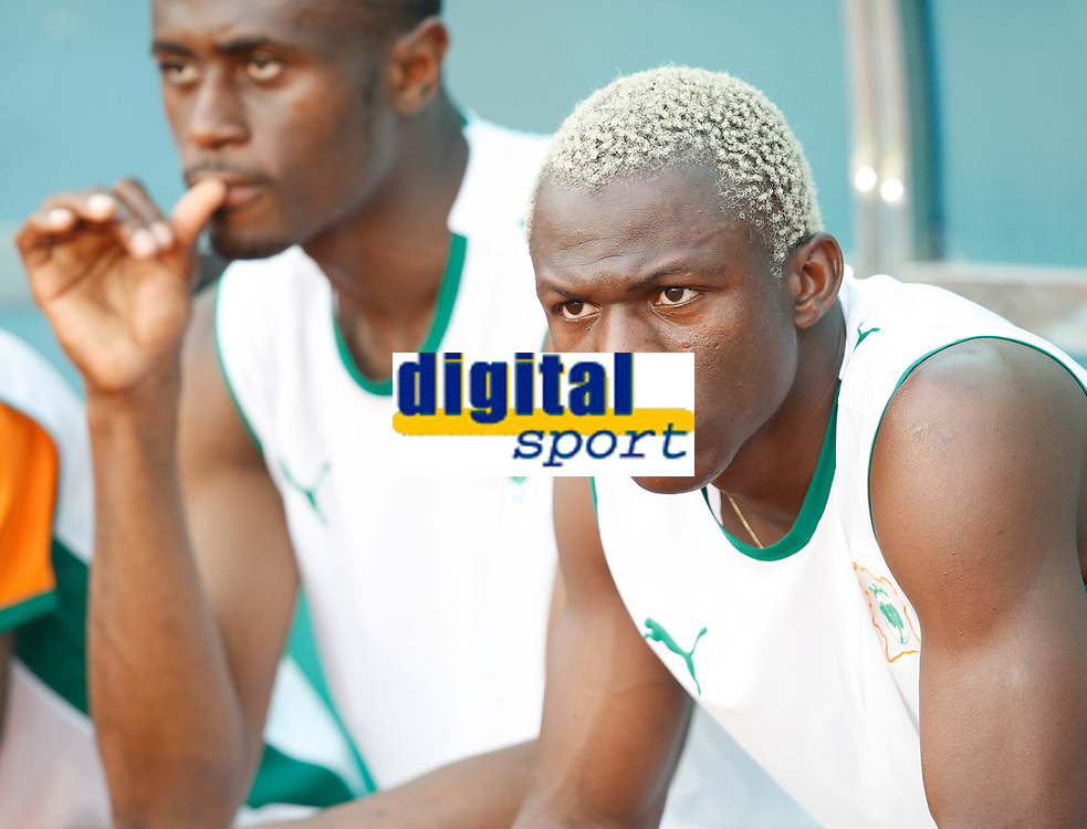 Photo: Steve Bond/Richard Lane Photography.<br />Nigeria v Ivory Coast. Africa Cup of Nations. 21/01/2008. Arouna Kone on the Ivory Coast subs bench