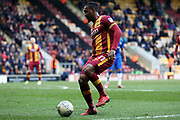 Bradford City forward Dominic Poleon (11) attacking  during the EFL Sky Bet League 1 match between Bradford City and Gillingham at the Northern Commercials Stadium, Bradford, England on 24 March 2018. Picture by Mick Atkins.