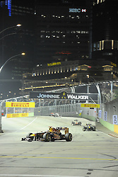 25.09.2011, Marina-Bay-Street-Circuit, Singapur, SIN, F1, Grosser Preis von Singapur, Singapur, im Bild Sebastian Vettel (GER), Red Bull Racing // during the Formula One Championships 2011 Large price of Singapore held at the Marina-Bay-Street-Circuit Singapur, 2011-09-24  EXPA Pictures © 2011, PhotoCredit: EXPA/ nph/  Dieter Mathis       ****** out of GER / CRO  / BEL ******