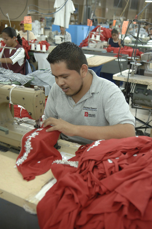 Matamoros, Mexico April, 2006: Clothing manufacturer BonWorth factory complex across the U.S. border in Mexico has 650 employees producing about 10,000 garments a day to supply its 200-plus U.S. stores in 31 states. ©Bob Daemmrich /