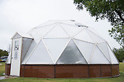 """A greenhouse for students sits behind Lorenzo De Zavala Environmental Science Academy in Grand Prairie, Texas on October 7, 2016. """"CREDIT: Cooper Neill for The Wall Street Journal""""<br /> PUBLICS"""